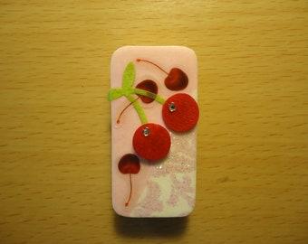 Domino Magnet - Cherries are my favorite fruit