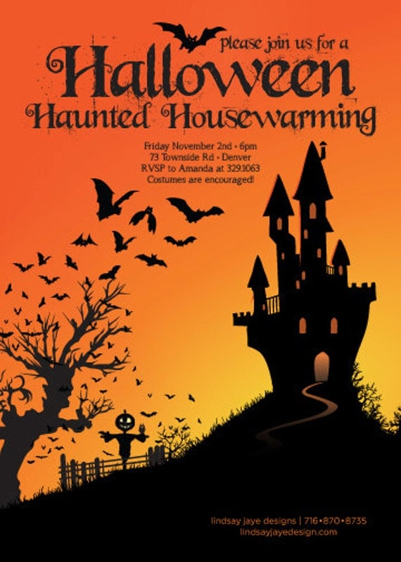 Items similar to halloween haunted housewarming for Where to have a halloween party
