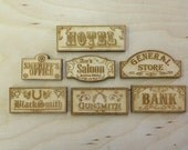 Old West Miniature Building Sign Pack
