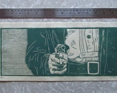 Draw -  woodcut print