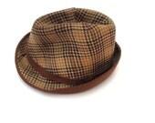 Brown Vintage Hat, Soviet Design Accessory, 1970's, Medium size