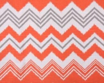 Handmade Curtain/Window Valance 50W x 15L in Orange Zazzle 100% Cotton,Home Decor,Nursery,Baby's Room
