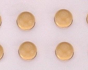 5 - 4mm round citrine cabochon gem gemstone