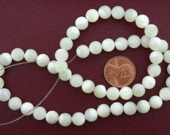 8mm round gem white mother of pearl beads