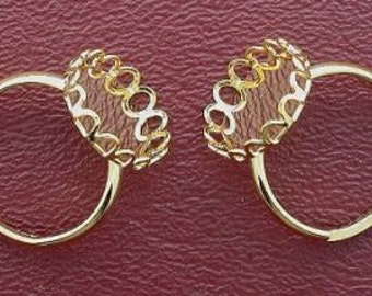 two 18x13 oval adjustable goldplated ring mounting