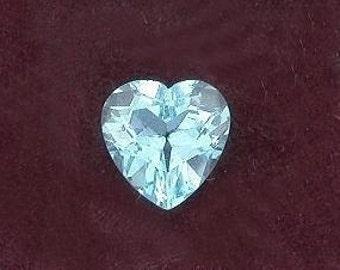 8mm heart sky blue topaz gem stone gemstone facet 3787