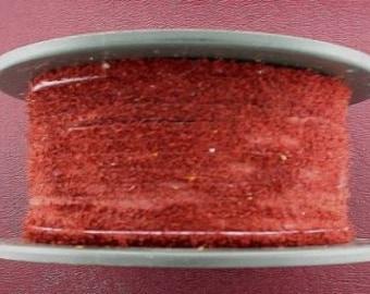 leather suede red burgundy 9 yard spool