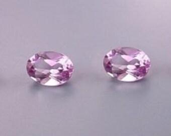 two - 7x5 oval amethyst gem stone gemstone 7mm x 5mm