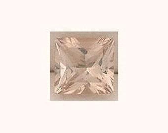 5mm square princess champagne topaz gem stone gemstone
