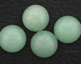 two 12mm round jade cabochon gem stone gemstone