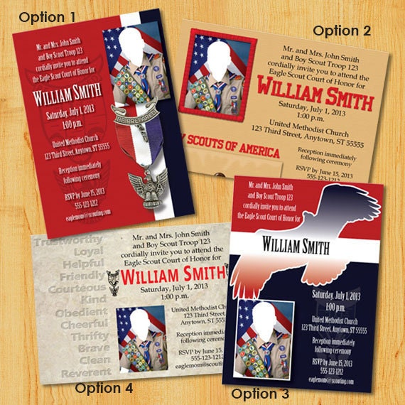 Personalized Eagle Scout Court Of Honor Invitations: Group 1