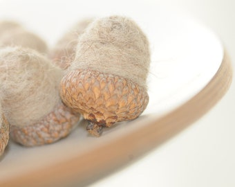 Felted Acorn