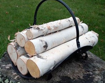 White Birch Log set for Fireplace