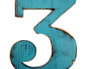 Number 3 Rustic Pine Wood Sign Wall Decor Kids Birthday Party Decor Birthday Number Photo Prop