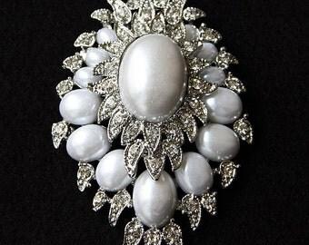 Bridal Hair Comb, Pearl Bridal Comb, Rhinestone And Pearl Comb, Wedding Accessories, Hair Comb