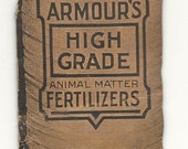 Vintage 1911 Armour Fertilizer Advertising Sewing Needle Book