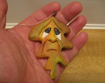 hand carved leaf