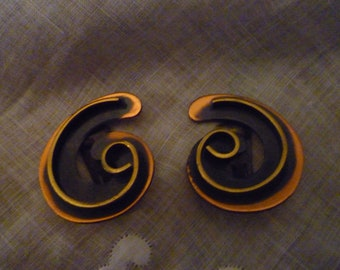 Vintage 50s Copper Spiral Earrings