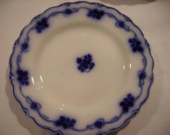Flow Blue Clover Salad Plate Vintage Gorgeous