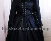 WICKED WITCH Elphaba Oz Plus Size Halloween Costume Adult Womens Size 3X - 26/28W - 6 pcs New