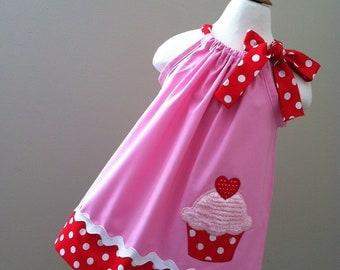 Adorable  Cupcake Pillowcase dress