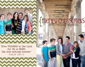 Give Thanks Christmas Photo Card