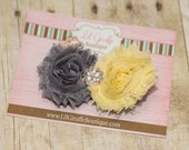 Grey and Yellow Flower Clippie