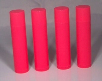 Neon Pink Lip Balm Tube w/ Cap - 100 Pack