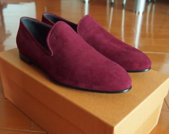 Brand New Tod's Burgundy Leather Shoes Loafers for Women Size 35 Fit Size 36