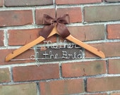 SALE GRAND OPENING - Two tier personalized wedding hanger