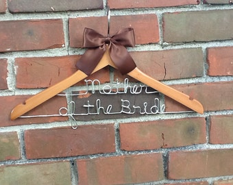 Two tier personalized wedding hanger