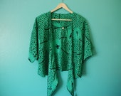 Reserved Do Not Purchase Japanese Vintage 80's Kimono Batwing Tie Blouse