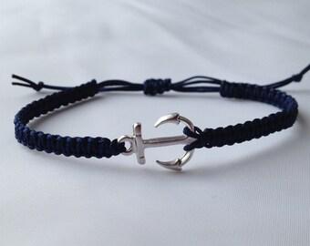 Anchor Macrame Bracelet