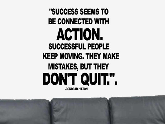 May You Get Success Quotes: Success Seems To Be... Positive Quote Conrad Hilton Vinyl Wall