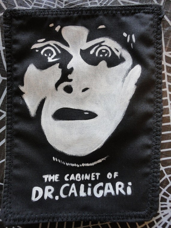 Hand Painted Cabinet of Dr. Caligari Patch