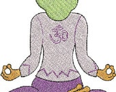 Machine Embroidery Yoga Frogs set one