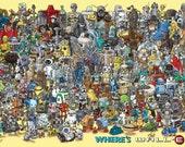 A1 size 'Where's WALL-E' poster
