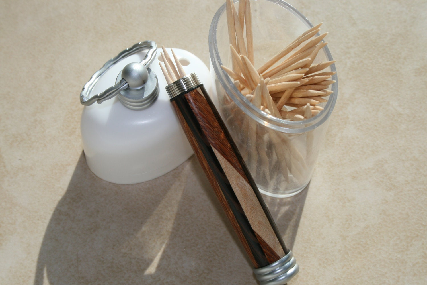 Key chain toothpick holder - Toothpick holder for purse ...