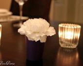 10 Mini Flower Vases Dark Purple Wedding Table Place Card Holder, Showers, Parties, Decoration