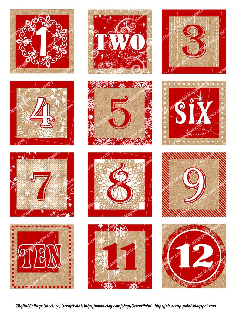Peaceful image within christmas numbers printable