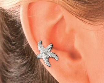 Starfish Ear Cuff in Sterling Silver   #61-SS-ea