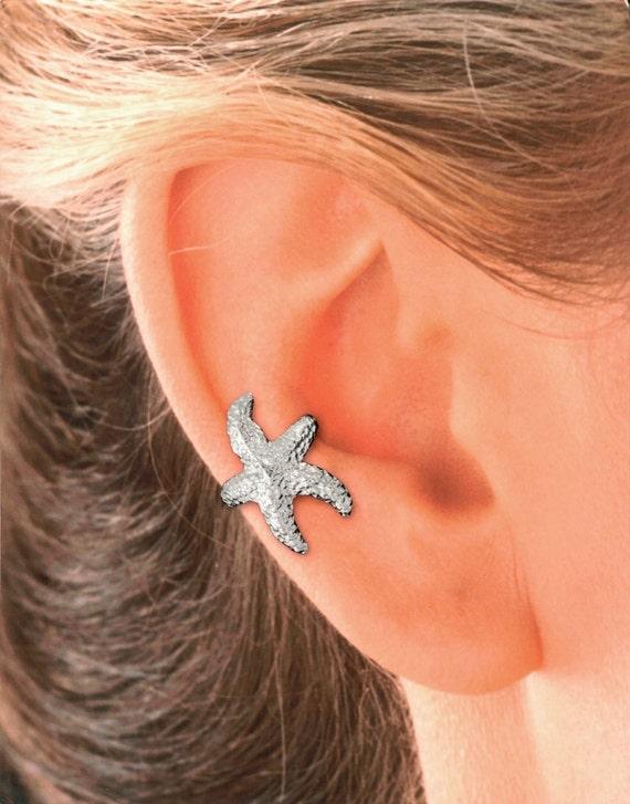 Starfish Ear Cuff in Sterling Silver   #61-SS-ea