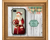 Vintage Santa Clause iPhone Case, Christmas iPhone Case, iPhone 4, iPhone 4s, iPhone 5, iPhone 5, iPhone 5c, iPhone 6, iPhone Cover
