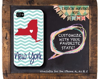 New York iPhone Case, Personalized iPhone Case, IPhone 4, iPhone 4s, iPhone 5, iPhone 5s, iPhone 5c, iPhone 6, Phone Cover