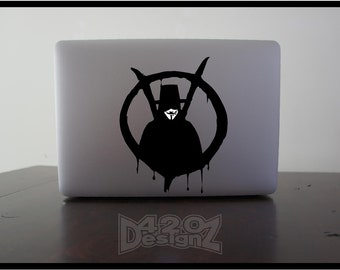Vendetta - Macbook Air, Macbook Pro,  Macbook decals, sticker ,Vinyl Mac decals ,Apple Mac Decal, Laptop, ipad