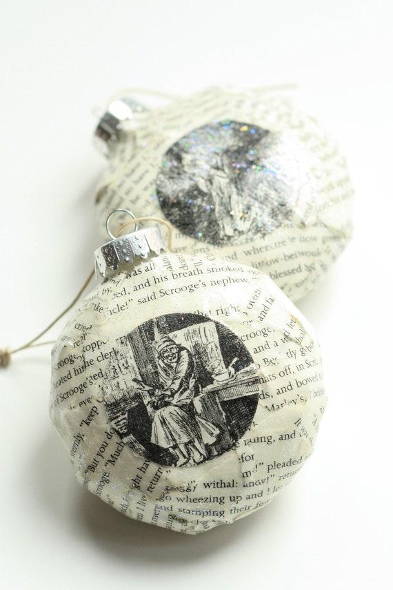 A Christmas Carol Decoupage Ornament: Classic Novel
