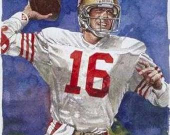 Joe Montana San Francisco 49ers SB XXIV MVP Art Print