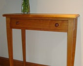 Wooden Console Table Natural English Ash