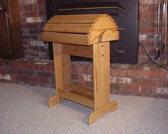 Oak Premium Saddle Stand - Honey Oak