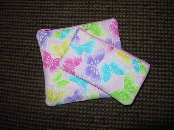 INSULATED Glitter Sparkley Butterfly ReUsable Sandwich and snack bags.. Perfect Christmas gift